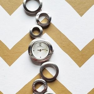 Fossil Stainless Steel Silver Circle Watch